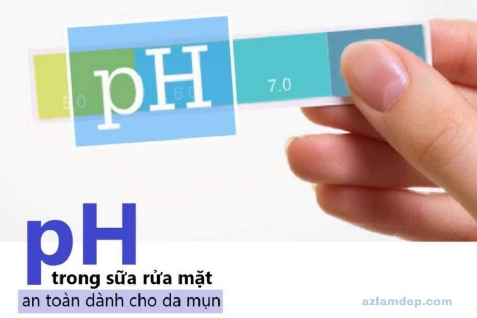 Độ pH trong sữa rửa mặt