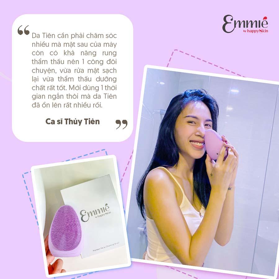 Review từ ca sĩ Thuỷ Tiên về máy rửa mặt Emmie.