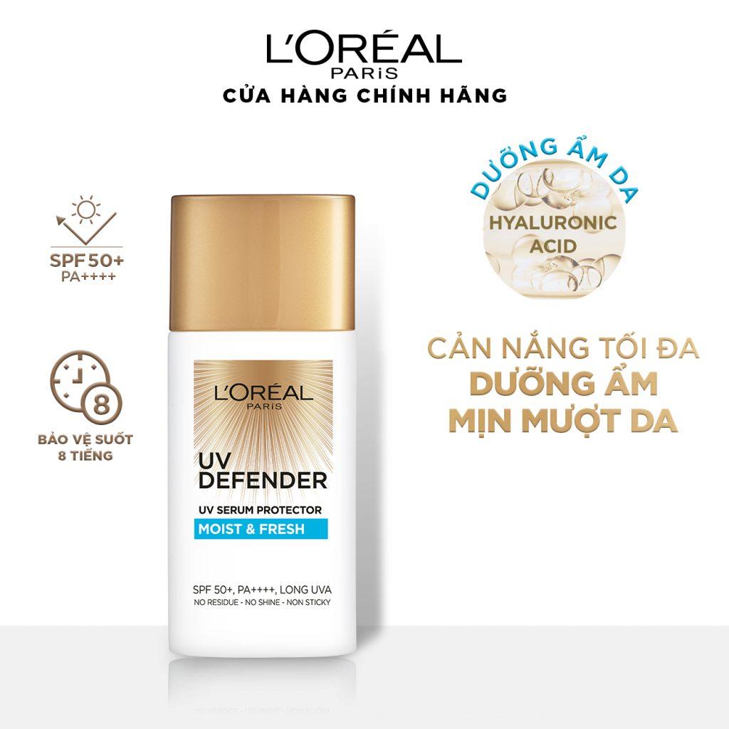 Kem chống nắng L'Oréal Paris UV Defender Moist & Fresh.