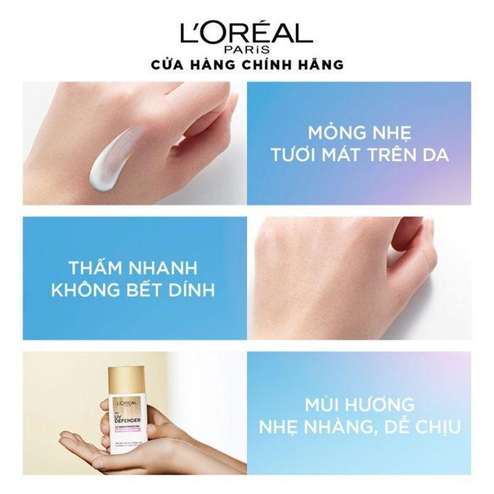 Kem chống nắng L'Oréal Paris UV Defender.