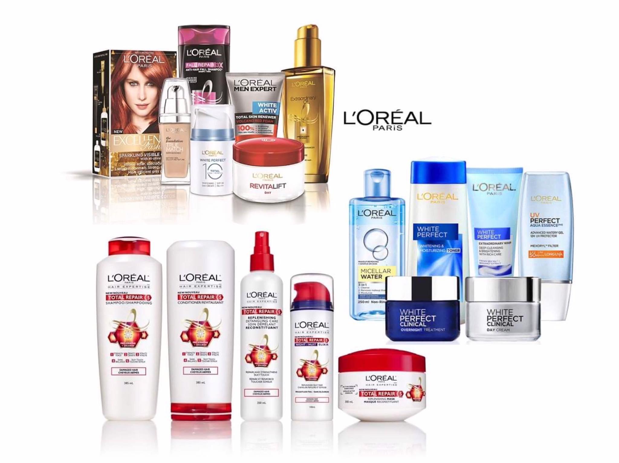 Và những sản phẩm chăm sóc da, dưỡng tóc của L'Oréal Paris.