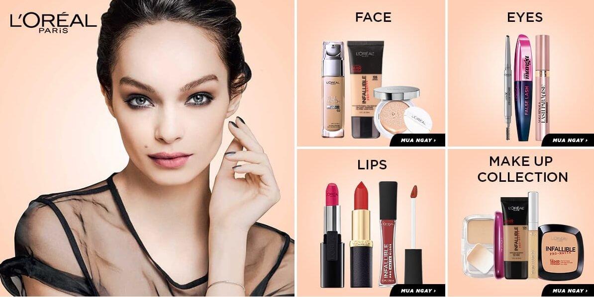 Một số sản phẩm của L'Oréal Paris.